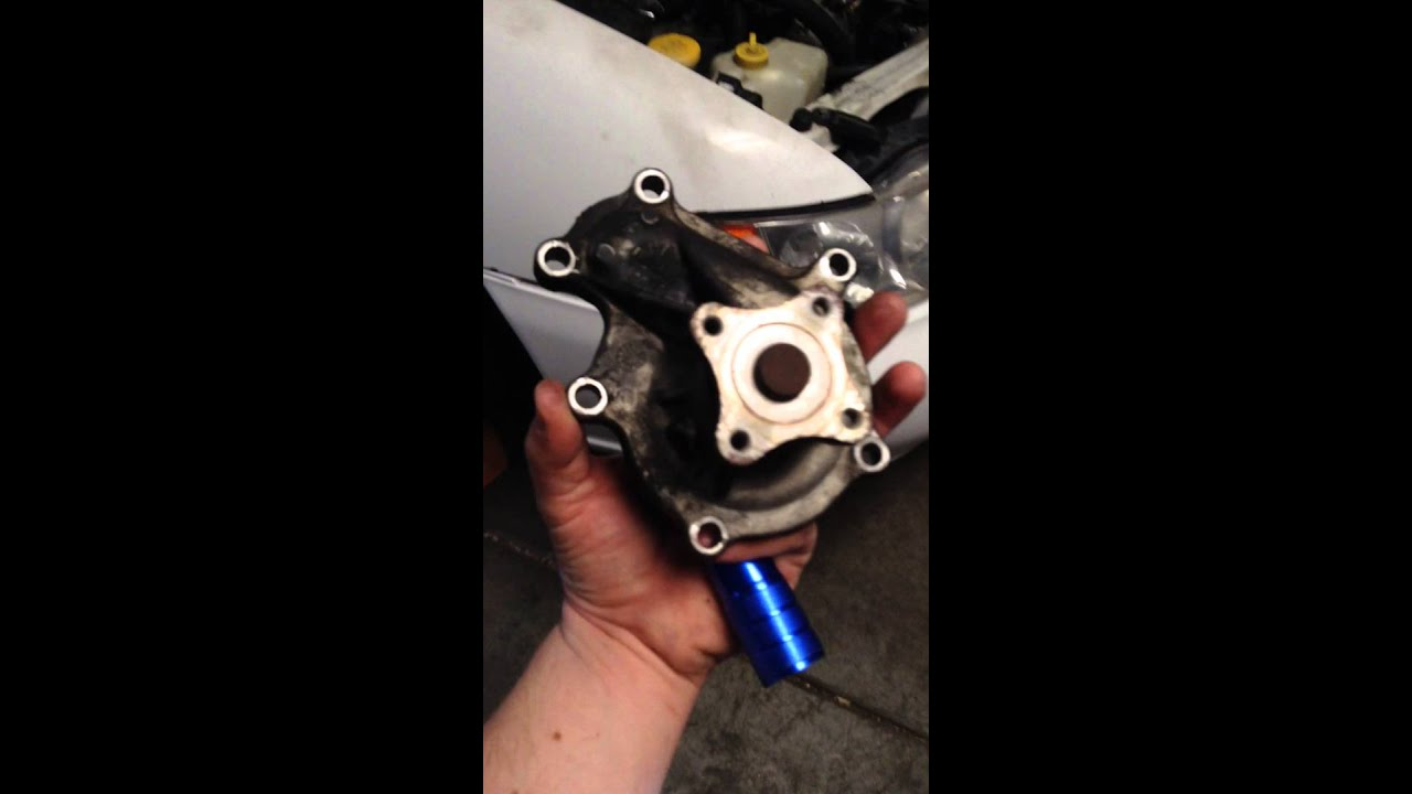 Water Pump & thermostat replacement Nissan Altima - YouTube