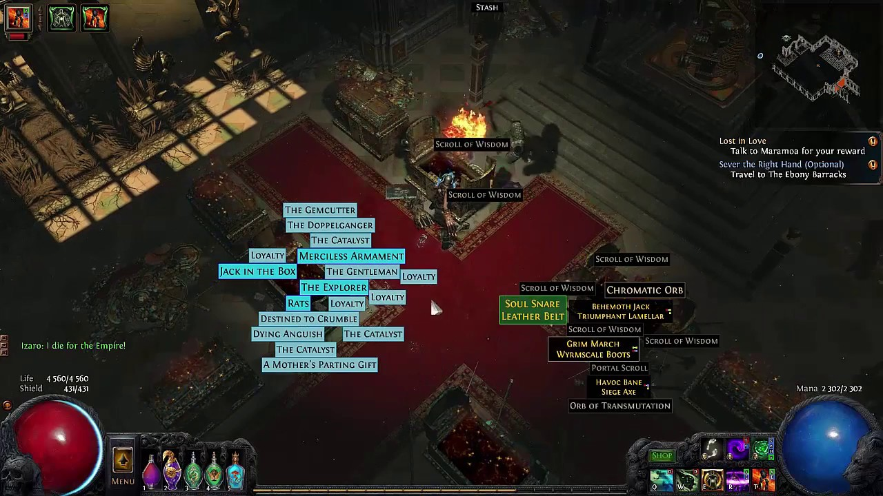 POE] Drops and enchant from 11 UBER LAB - YouTube