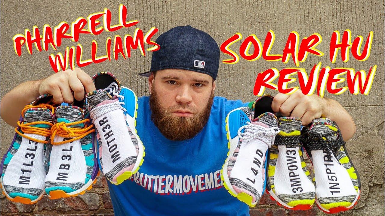 2d4032422e723 THE NEW PHARRELL WILLIAMS SOLAR HU RACE NMD REVIEW - YouTube