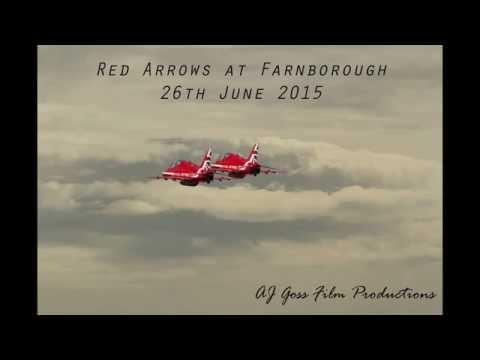 Red Arrows at Farnborough Airport 26th of june 2015