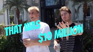Jake Paul Making Shane Dawson Feel Poor