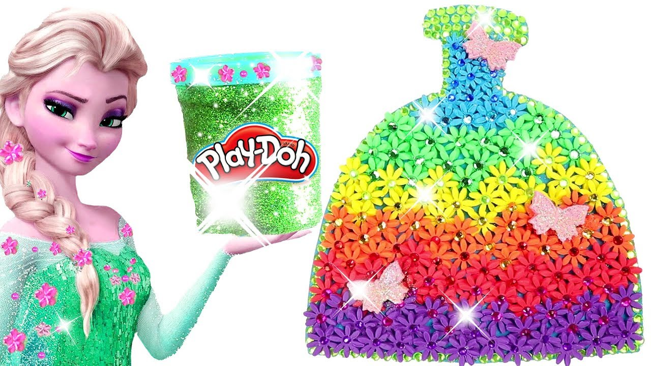 Learn Colors Play Doh Making Colorful Sparkle Disney ...