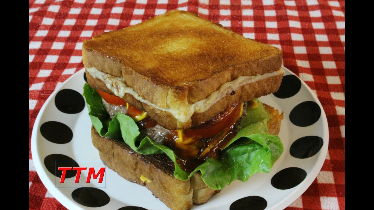 How to make a Grilled Cheese Sandwiches Burger in the Toaster Oven