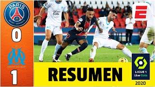 PSG 0-1 Marsella. ESCANDALOSO clásico. Neymar fue expulsado. Hubo 12 amarillas y 5 rojas | Ligue 1