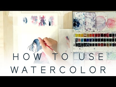 HOW TO USE WATERCOLOR - Introduction Tutorial