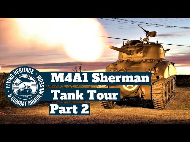 Sherman Tank Tour Part 2:  Inside the Driver Position