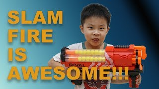 Slam Firing Awesomeness - NERF Rival Artemis Review!