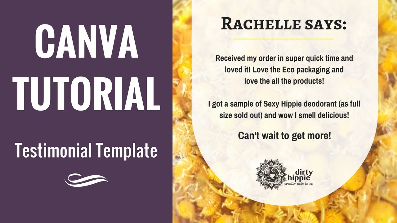 001 canva tutorial testimonial template dirty hippie youtube