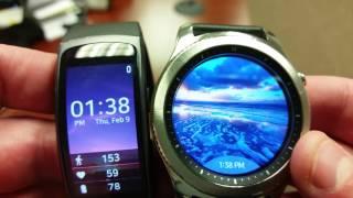 Samsung Gear S3 vs Gear Fit2 -- Smartwatch Nerd