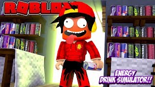 ROBLOX - WHAT HAPPENS WHEN YOU DRINK ENERGY DRINK!!!