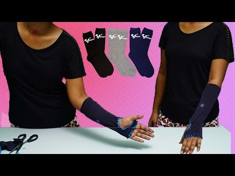 How To Make Hand Gloves With Socks | DIY | Refashion Clothes - DIY Crafts