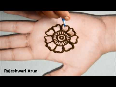 simple easy mehandi designs for beginners