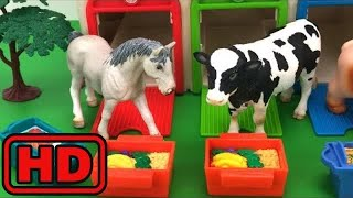 Kid -Kids -Learn Names And Sounds Of Farm Animals/Learn Colors/Tayo Bus Depot Toy Surprise