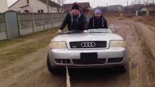 BRP 800 против vs AUDI A6 прикол!!! (2 часть)