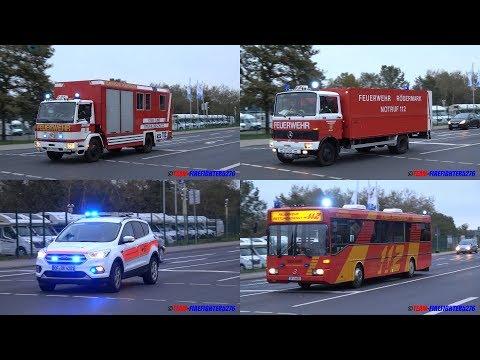 [200 Liter Gefahrgut ausgetreten] Großalarm für Feuerwehr, Rettungsdienst und Polizei in Dietzenbach