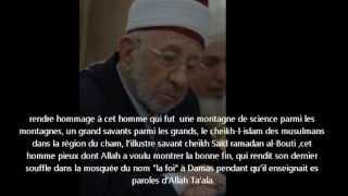 Pourquoi cheikh Al Bouti n