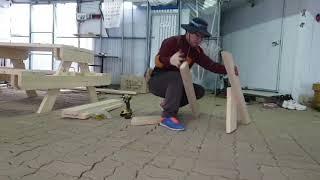 나무벤치만들기 초 간단 목공작업