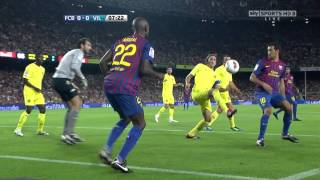 barcelona vs villarreal la liga 29-08-2011- 720HD