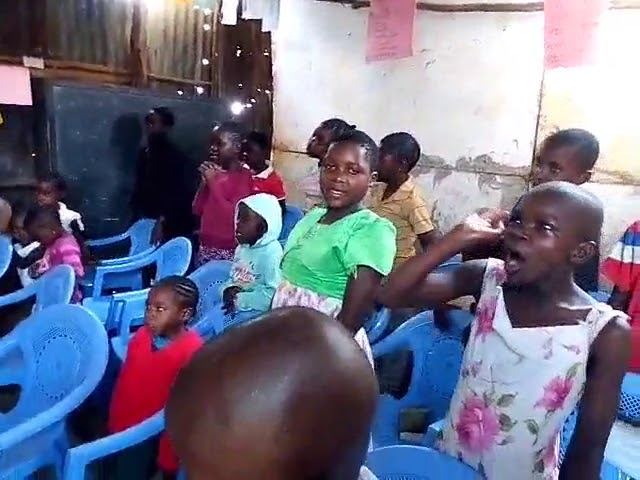 GMFC Kibera Slum Kenya Children Worshiping & Praying