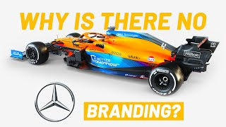 Why is there NO Mercedes Branding on the 2021 McLaren?