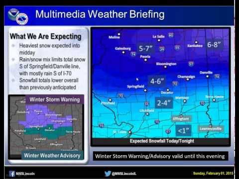 NWS Lincoln Multimedia Briefing -- 2-1-2015 5 am