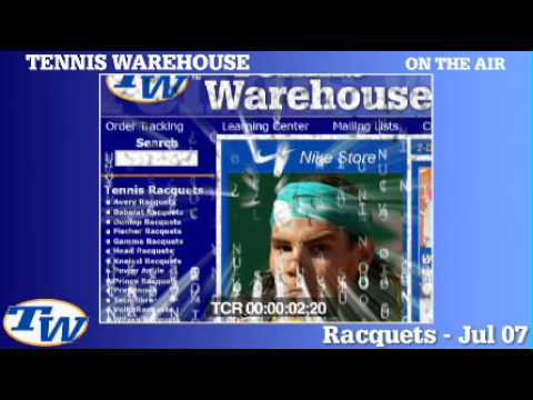 Tennis Warehouse   TV Commercial  2 July 2007 - YouTube c8b2277108