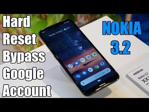 Hard Reset & Bypass Google Account NOKIA 3.2