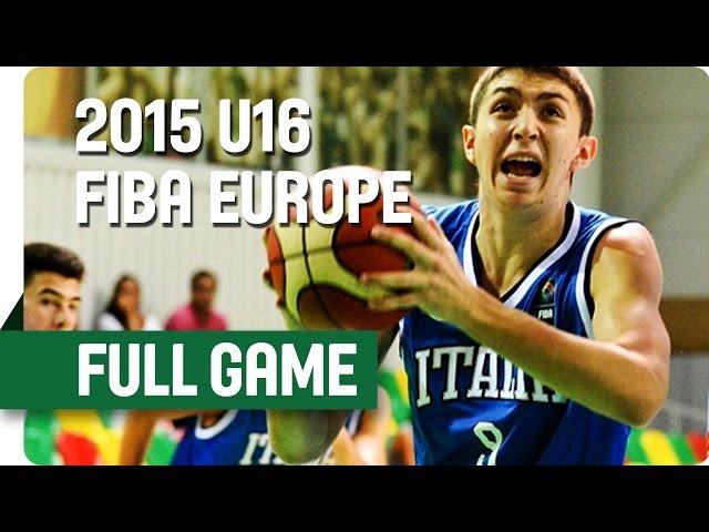 Live  : Ελλάδα - Ιταλία για τις θέσεις 9-16 του Ευρωπαϊκού πρωταθλήματος μπάσκετ U16 Ανδρών