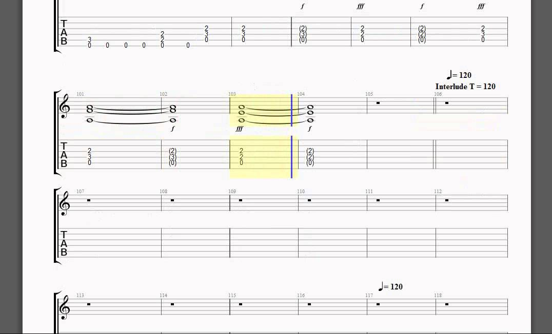 and justice for all guitar tab pdf