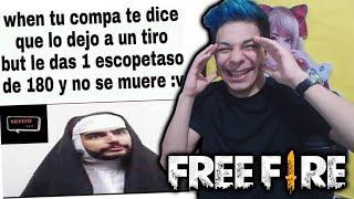 ¡IMPOSIBLE NO REÍRTE CON ESTO! 😂 LOS MEJORES MEMES de FREE FIRE! *épicos*