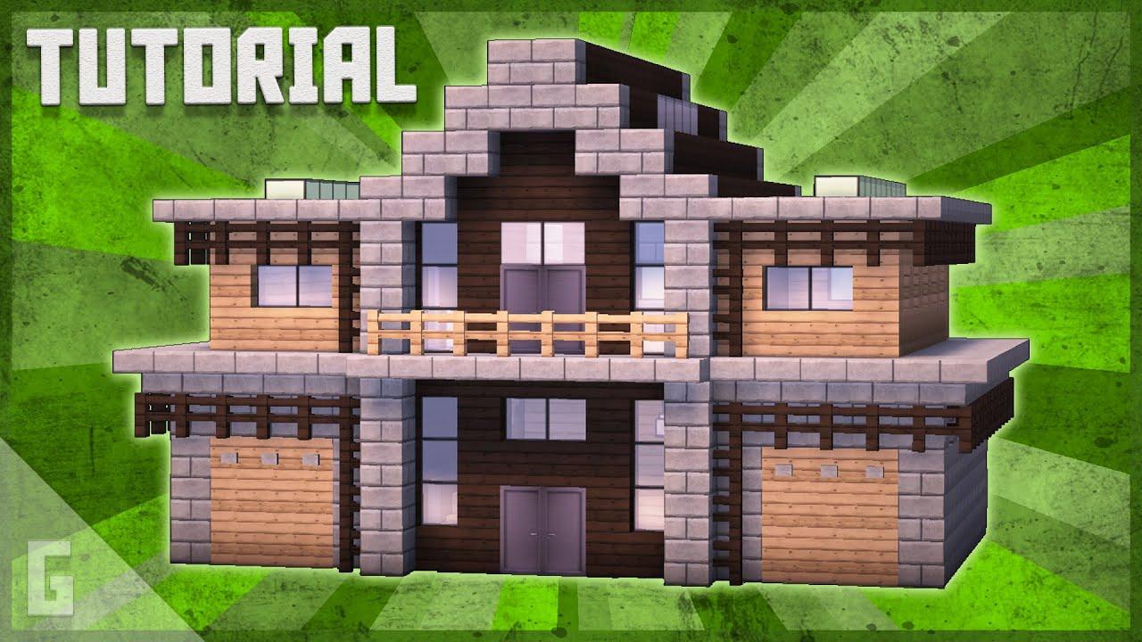 Wood & Stone Suburban House Minecraft Tutorial - YouTube