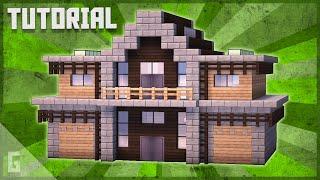 Wood & Stone Sขburban House Minecraft Tutorial