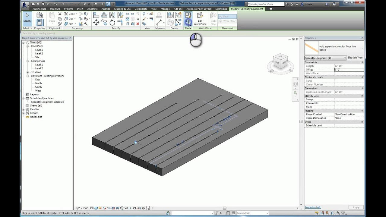 Revit Slab Cut by Void Family - A How To Guide