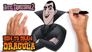 How to Draw Dracula (Hotel Transylvania 2)- Easy Art Lesson