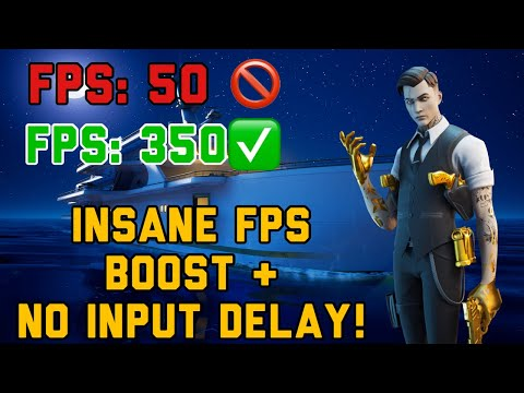 HOW TO BOOST FPS & REDUCE INPUT DELAY ON FORTNITE PC! (CHAPTER 2 SEASON 2)