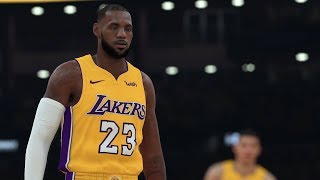 NBA 2k18 - Lebron Signs with the LA Lakers   Lakers vs Celtics (4k 60fps) #LABRON