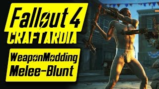 Fallout 4 Weapon Customization - Melee Weapons Modding - Fallout 4 Blunt Melee Weapons Mods [PC]