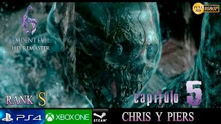 Resident Evil 6 HD Final Campaña Chris y Piers | Capitulo 5 Español | Inmersivo No HUD - Final Boss