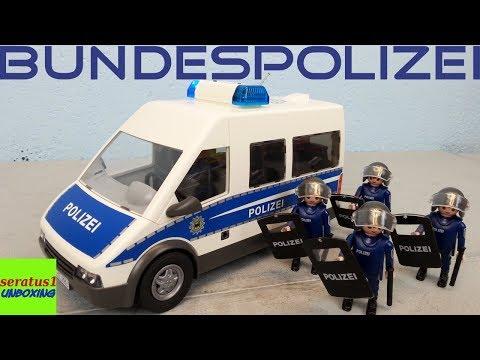 Playmobil Bundespolizei Mannschaftswagen 9397 Auspacken Seratus1 Unboxing