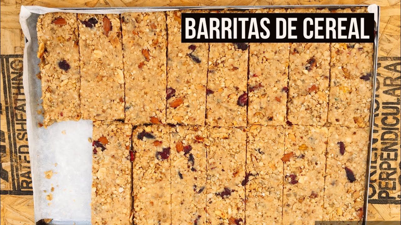 Barritas De Cereal Caseras Y Saludables Sin Horno Youtube