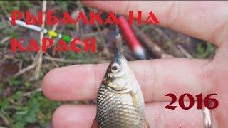 Первая, летняя рыбалка на карася 2016г
