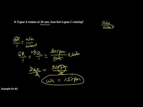 Gear Ratio 1 1 3 A