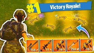 WINNING With *ONLY* LEGENDARY Weapons In Fortnite: Battle Royale!