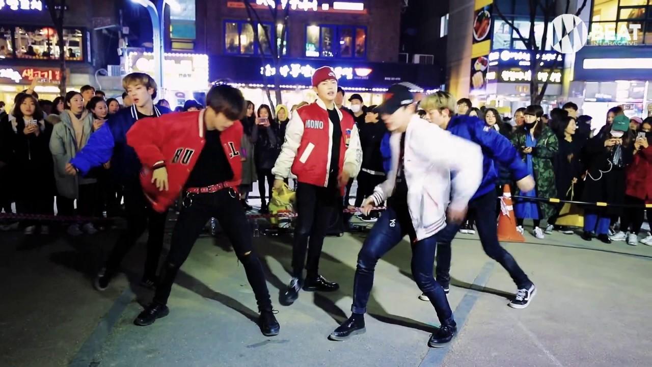 EXO - 으르렁(Growl) & Monster Dance cover Busking in Hongdae