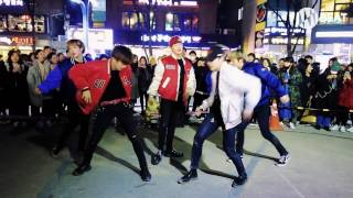 EXO - 으르렁(Growl) & Monster Dance cover Busking in Hongdae