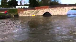 Flooded Yalding sluice