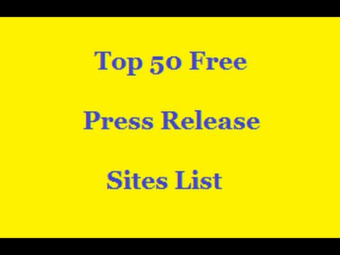 Free Press Release Sites List For High PR Submission