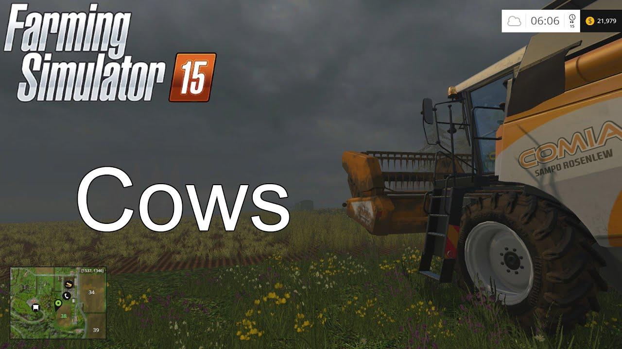 Farming Simulator Tutorial Cows YouTube - Farming simulator 2015 us map feed cows