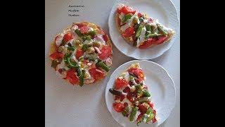 Pizza Tarifi - Kahvaltılık Bazlama Üstü Kolay Pizza Tarifi