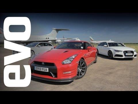 Audi RS6 v RS4 v Nissan GT-R | evo DRAG RACE